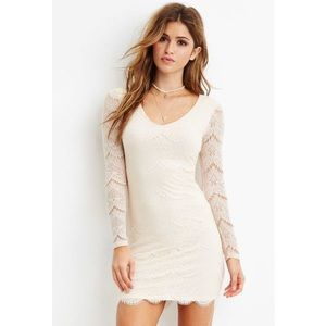 Forever 21 Lace Body Con Dress